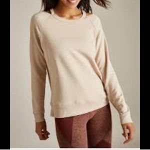 New Beyond yoga Sedona Cut Out sweatshirt pullover